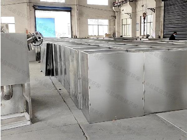 酒店地上式大型油水分离器设备处理效果