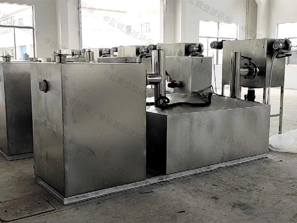 餐馆大型室内半自动不锈钢油水分离机操作规程