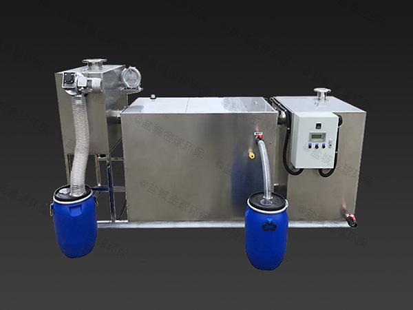 餐饮行业中小型地上式智能隔油隔渣设备施工方案