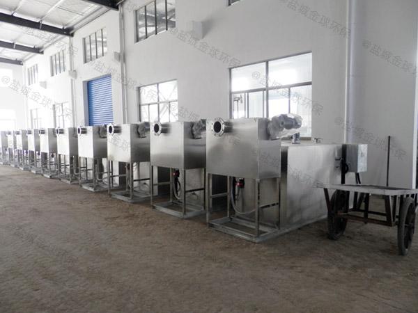 饮食业大型室外自动排水气浮隔油池处理量