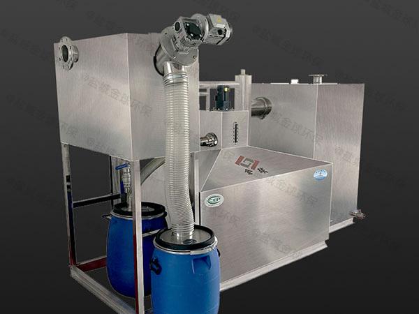 餐饮行业户外中小型油水分离一体化设备什么价