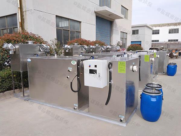 餐饮类地上式全自动智能型气浮隔油设备效率