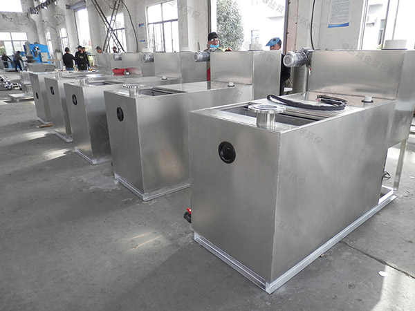 厨下型大型地埋半自动一体化隔油处理设备设计