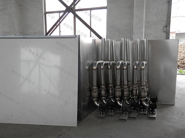 饭堂大型埋地简易隔油提升一体机怎么安装图