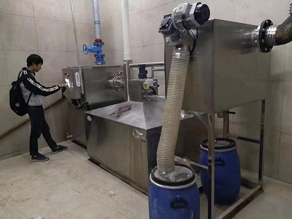 单位食堂大全自动智能型隔油强排一体化设备厂家联系方式