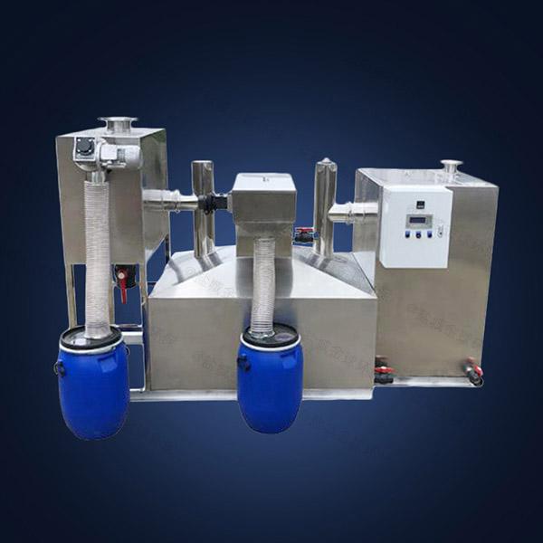 餐厅厨房埋地式大型全自动智能型排污油水分离器的用途