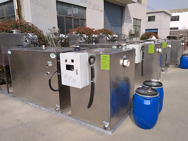 安装家庭500人泔脚污水处理油水分离器