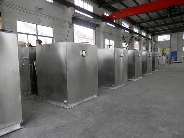 安装商场餐饮1000人电加热污水隔油设备
