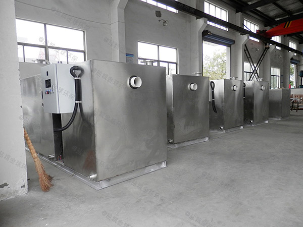安装火锅1000人地埋式水油分离装置