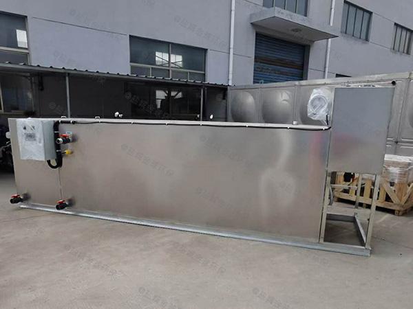 自制商场餐饮小型密闭式一体式隔油提升设备