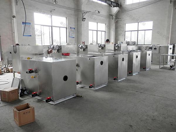 安装火锅店新分体式污水隔油提升设备
