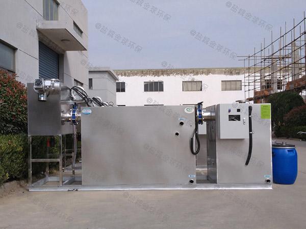 提供火锅店新地埋式三段式隔油池