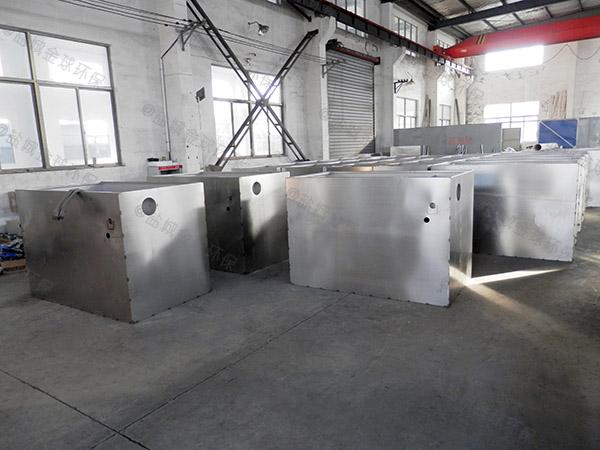 安装家用小型分体式污水处理油水分离器