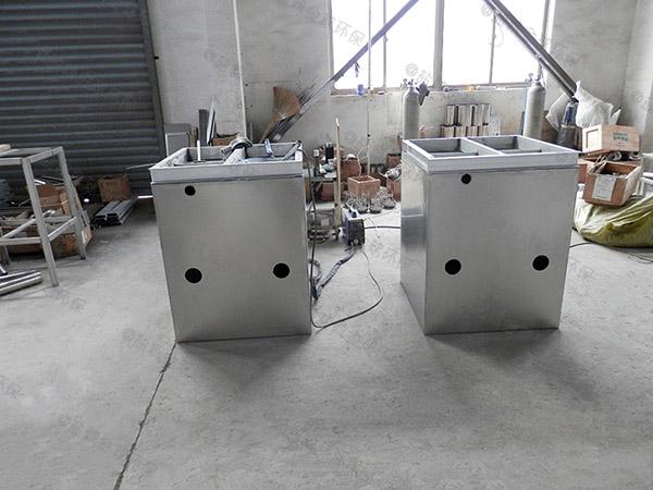 安装火锅专用小型地面气浮隔油器