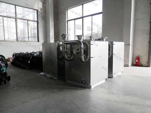 奶茶店电动污水提升装置排水管安装示意图